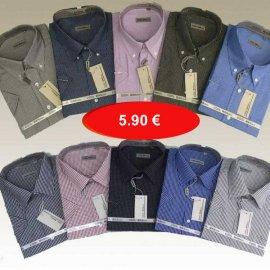 Ανδρικά κοντομάνικα πουκάμισα καρεδάκι σε διάφορα χρώματα Μεγέθη M-XXL