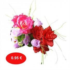 Διάφορα μπουκέτα πλαστικά λουλούδια --