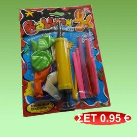 Σετ μπαλόνια με τρόμπα