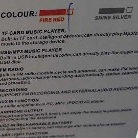 Επαναφορτιζόμενο FM-Ράδιο-Mp3 Player-Ηχείο με ψηφιακή οθόνη και LED φακό.USB-TF Card-ακουστικά υποδοχές.Δυνατότητα εγγραφής.Τέλειος ήχος