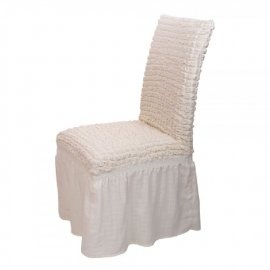 Σετ 6 τμχ. καλλύματα καρέκλας σαλονιού με βολάν σε διάφορα χρώματα
